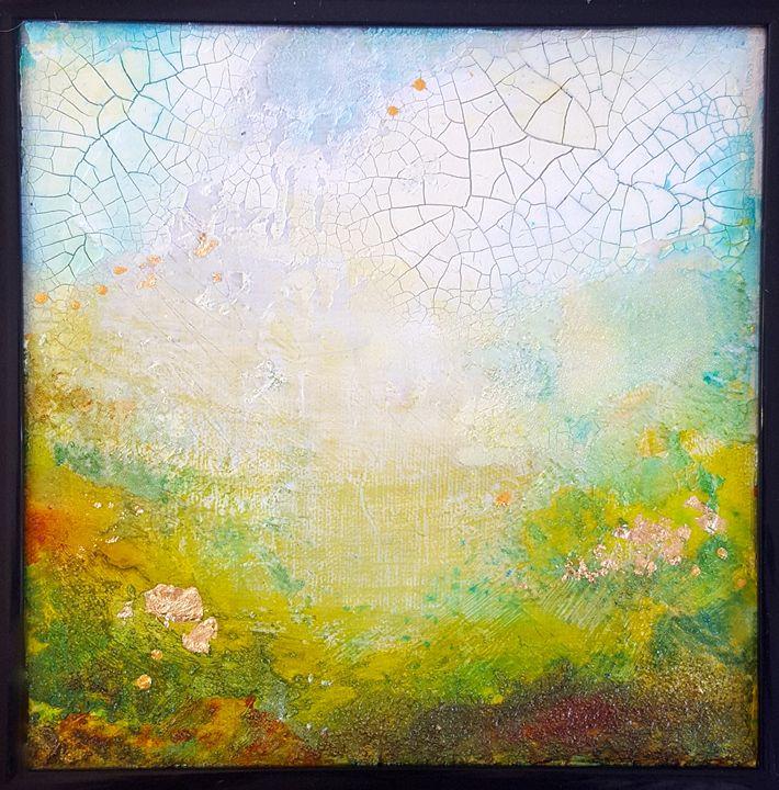 "small abstract on canvas-SOLD - ""Wildspringartstudio"" Laura Spring"