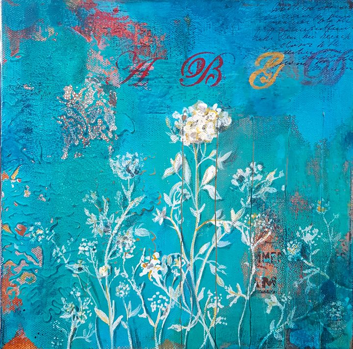 "Wallflower-SOLD - ""Wildspringartstudio"" Laura Spring"