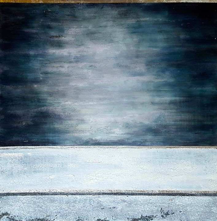 "Silver Horizon-SOLD - ""Wildspringartstudio"" Laura Spring"