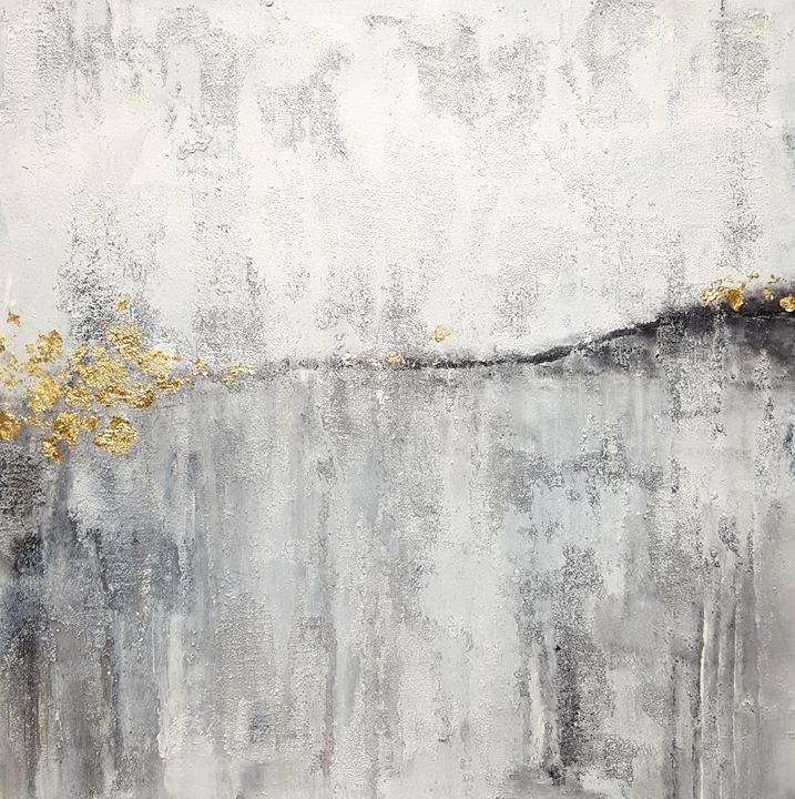 "White and Gold-SOLD - ""Wildspringartstudio"" Laura Spring"