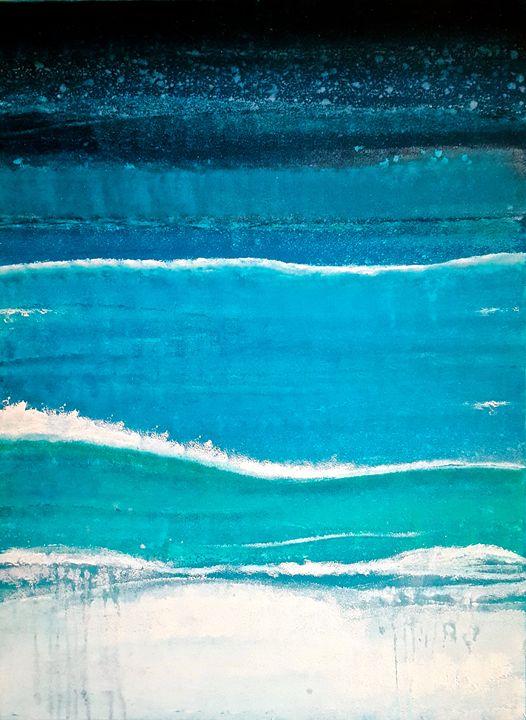 "Deeper End of the Ocean-SOLD - ""Wildspringartstudio"" Laura Spring"