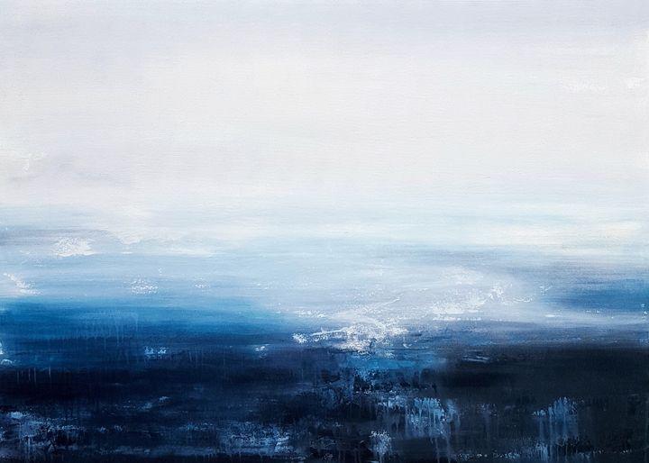 "Night Reflections-SOLD - ""Wildspringartstudio"" Laura Spring"