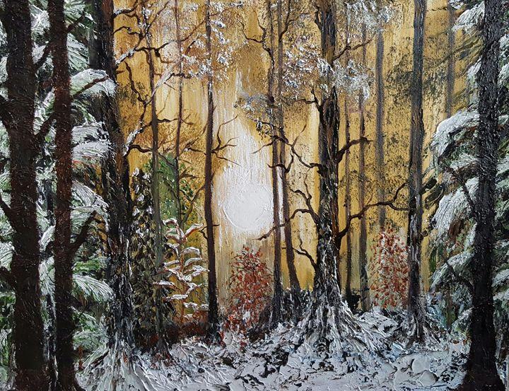 A sunny, snowy, forest scene - Carol @ Centon