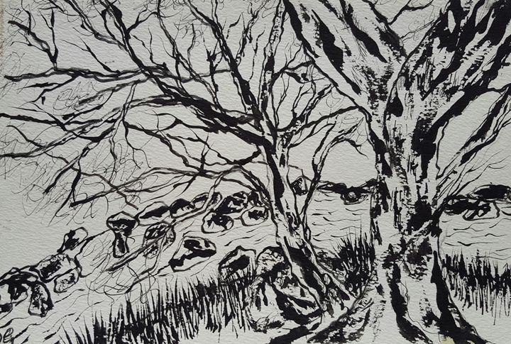 Mono river and trees - Carol @ Centon