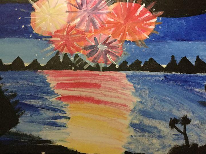 4 July by the beach - Meghan's art