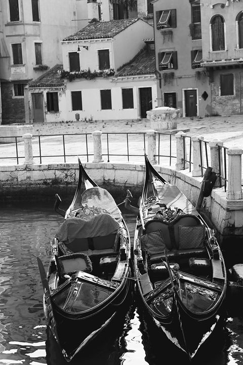TWO GONDOLAS by Carla Pivonski - Carla Pivonski® Fine Art Photography