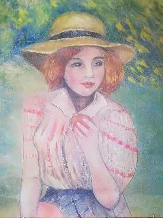 Jeune fille à la pêche - Sabine Faivre de Fombelle