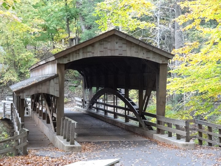 Bridge at Mill Creek Park in Fall - Rice Photography