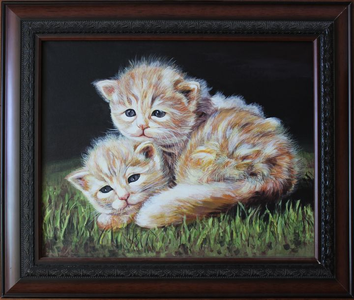 Two Cats - Nan's Art Studio