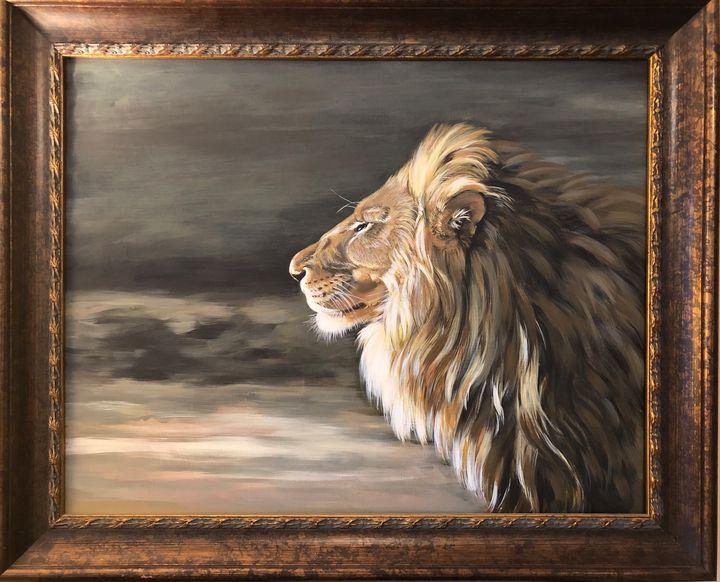Lion at Dawn - Nan's Art Studio