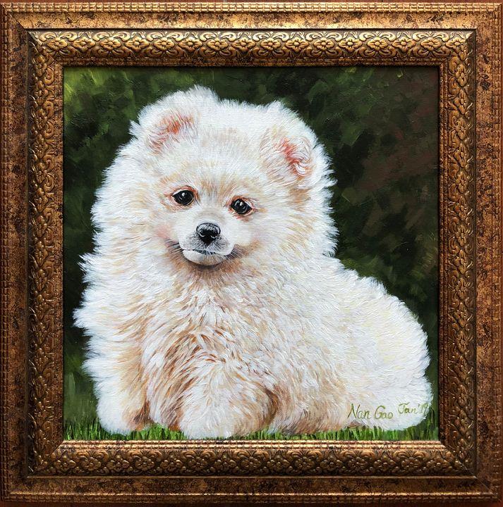 White Puppy - Nan's Art Studio