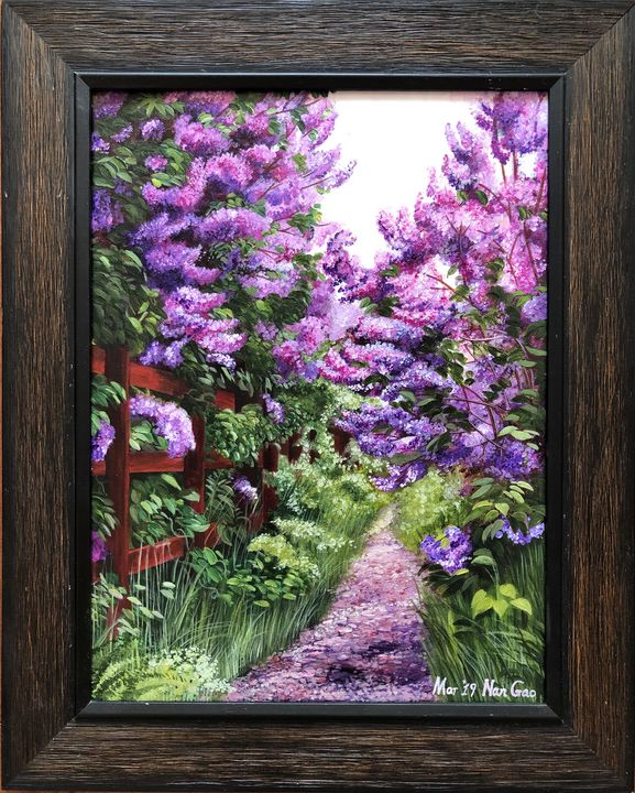 Quiet Garden - Nan's Art Studio