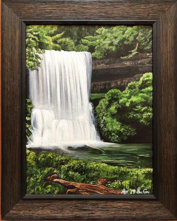 Waterfall in Deep Forest - Nan's Art Studio