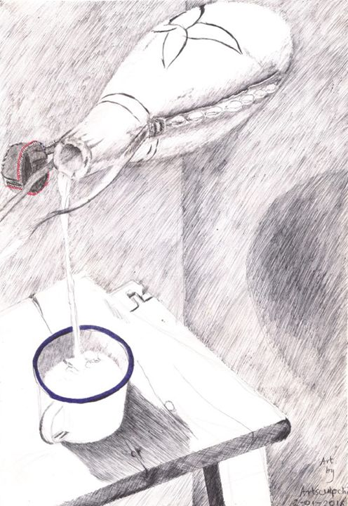 Life is like flow of water -  Artsculpche1