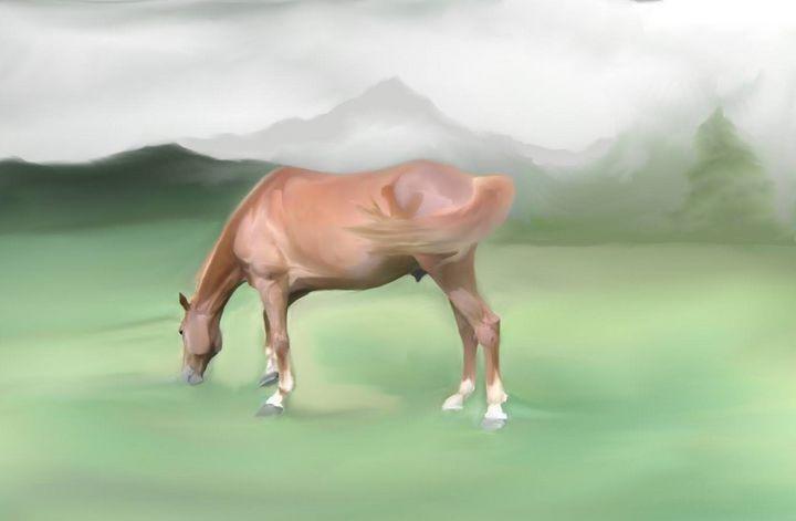 Virgil on the grass - Paula Ray