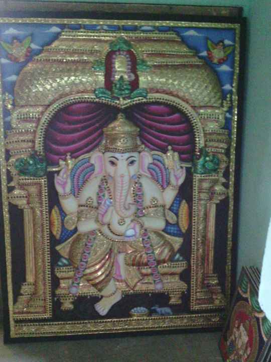 tanjore antique made paintings - sri saimeera associates