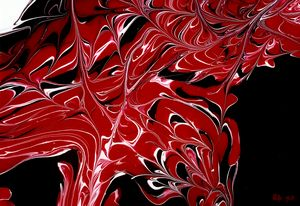 Abstract Red Black White