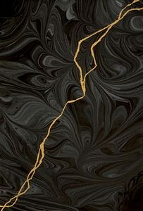 Abstract Black Gold Silver