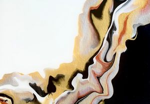 Abstract Gold Silver Copper Black