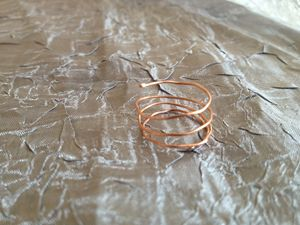 Copper Spiral Ring