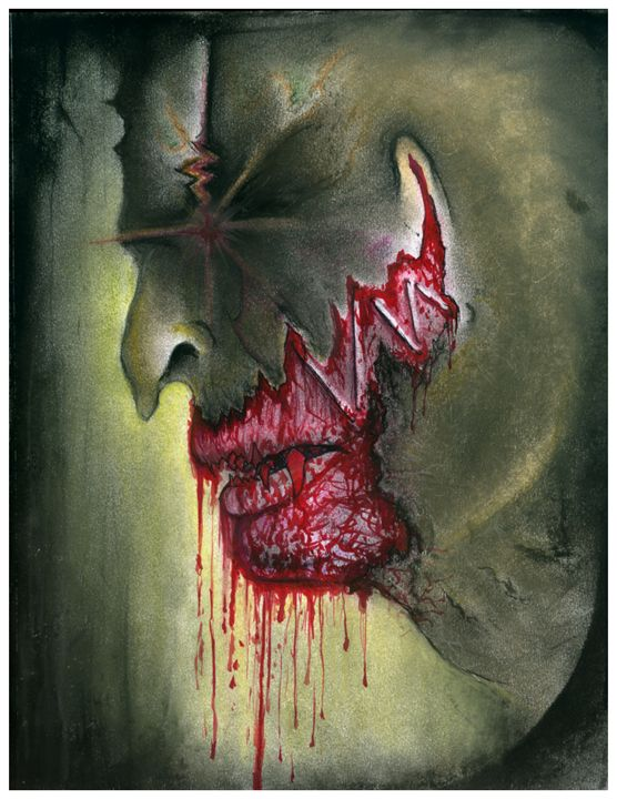 Zombie Bloody Face - Horror Movie Art