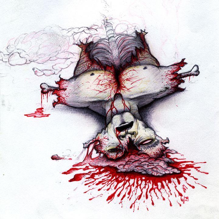 SUICIDE FAILURE Splatter piece - Horror Movie Art