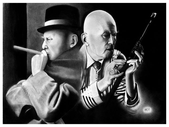 ALEISTER CROWLEY DUO PORTRAIT - Horror Movie Art
