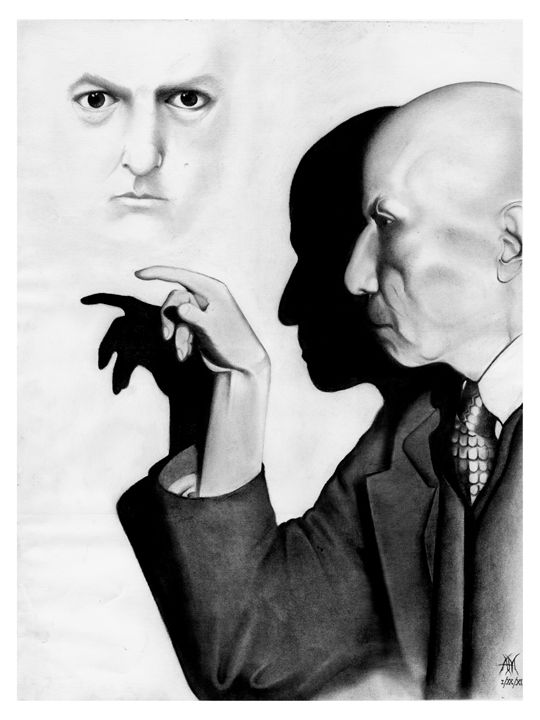 ALEISTER CROWLEY PORTRAIT - Horror Movie Art