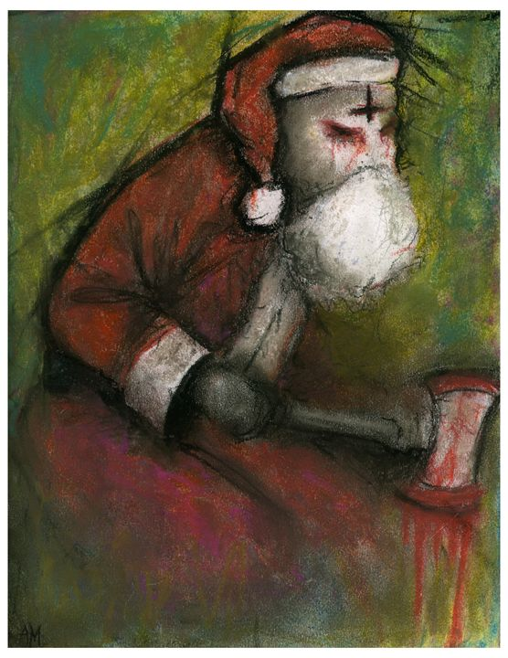 Evil Santa - Horror Movie Art