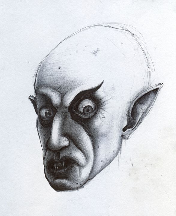 NOSFERATU - INK on PAPER - Horror Movie Art