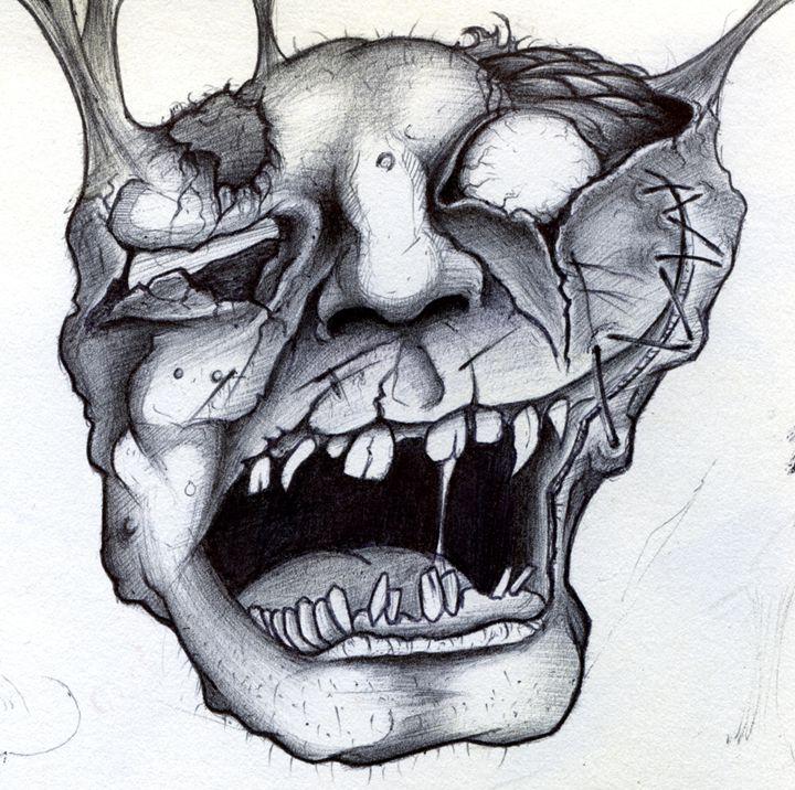 Horror Face 1 - Horror Movie Art