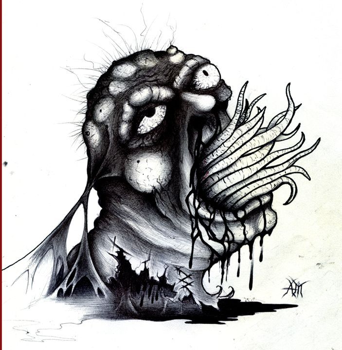 Worm Mouth - Horror Movie Art