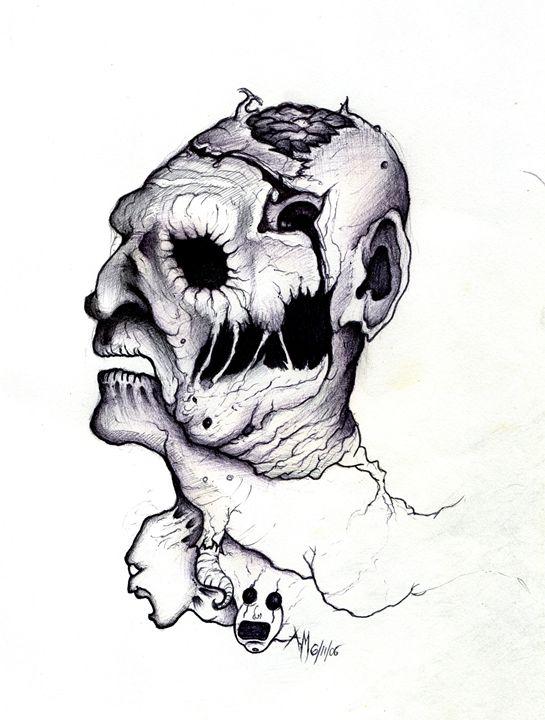 Freddy Keuger Deformed Face - Horror Movie Art