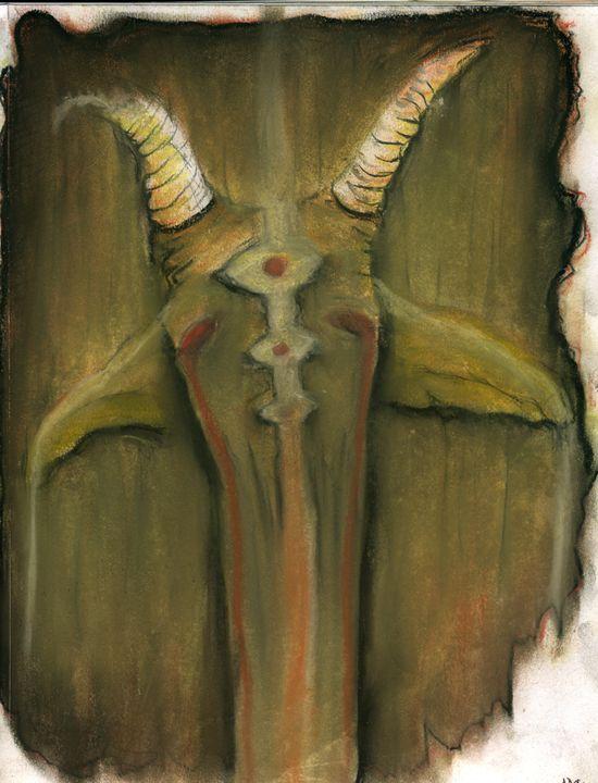 Melting Satanic Goat - Horror Movie Art