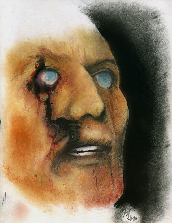 Zombie Face - Horror Movie Art