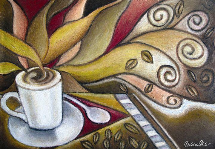 Cafe theme in oil pastels - Melissa White (Easelartworx)