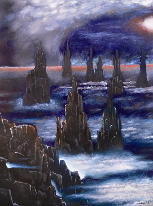surreal mystical rocky ranges - Melissa White (Easelartworx)