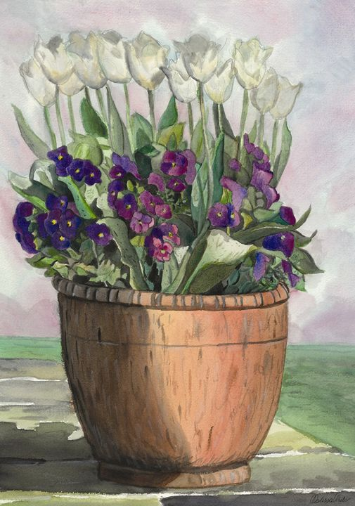 Flowers in water color 5 - Melissa White (Easelartworx)