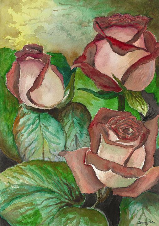 Flowers in water color - Melissa White (Easelartworx)