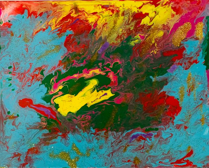 Abstract painting - Rinky