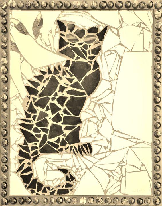 Bruce Wayne (Framed Vintage Gold) - Emily Nantz