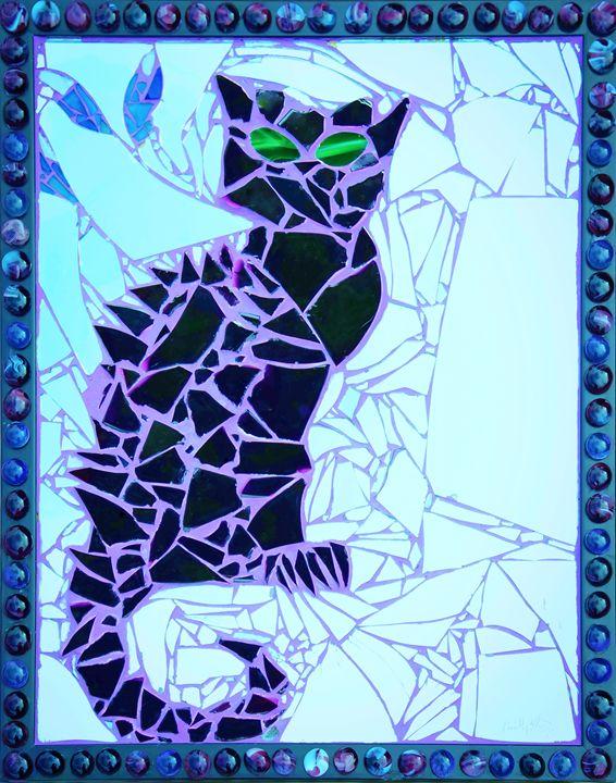Bruce Wayne (Framed Blue Tint) - Emily Nantz