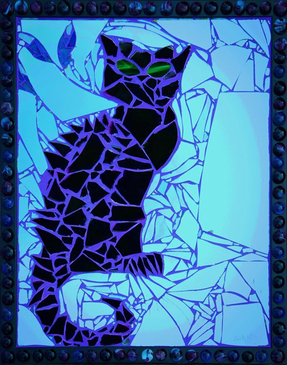 Bruce Wayne (Framed Electric Blue) - Emily Nantz
