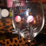 Pearl dragonfly earrings