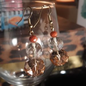 1960s pink Vogue beads