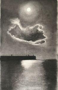 """Pier in Moonlight "" 2019"