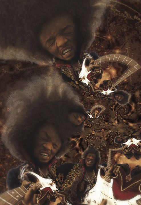 Jimi Hendrix - 11x17 - JH-1 - Homespun Galleries