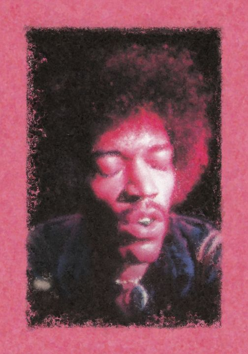 Jimi Hendrix - 11x17 - JH-3 - Homespun Galleries