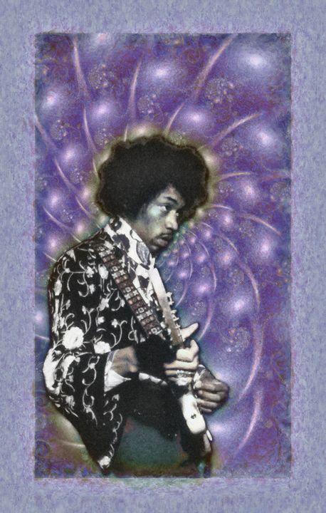 Jimi Hendrix - 11x17 - JH-4 - Homespun Galleries
