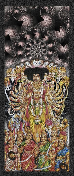 Jimi Hendrix - 28x14 - JH-7 - Homespun Galleries